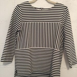 Striped and structured Madewell top - M